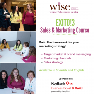 Wise Women Business Professional Center sales marketing entrepreneurship workshop exito keybank program service